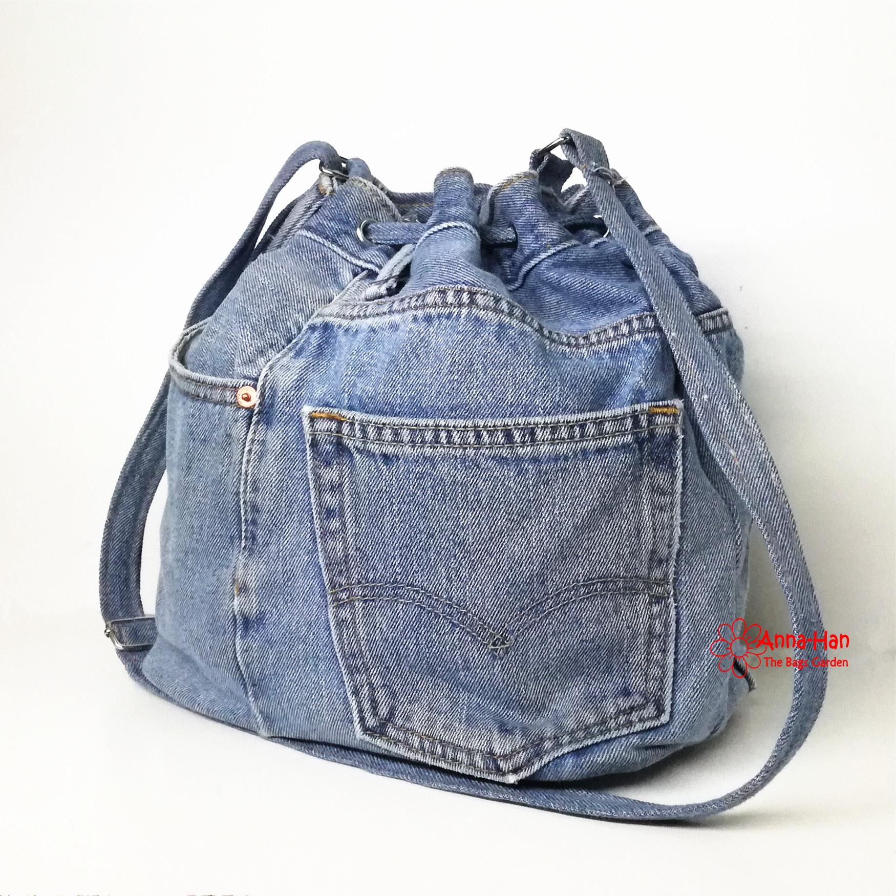 Jb11 Handmade Jean Bucket Bag The Bags Garden