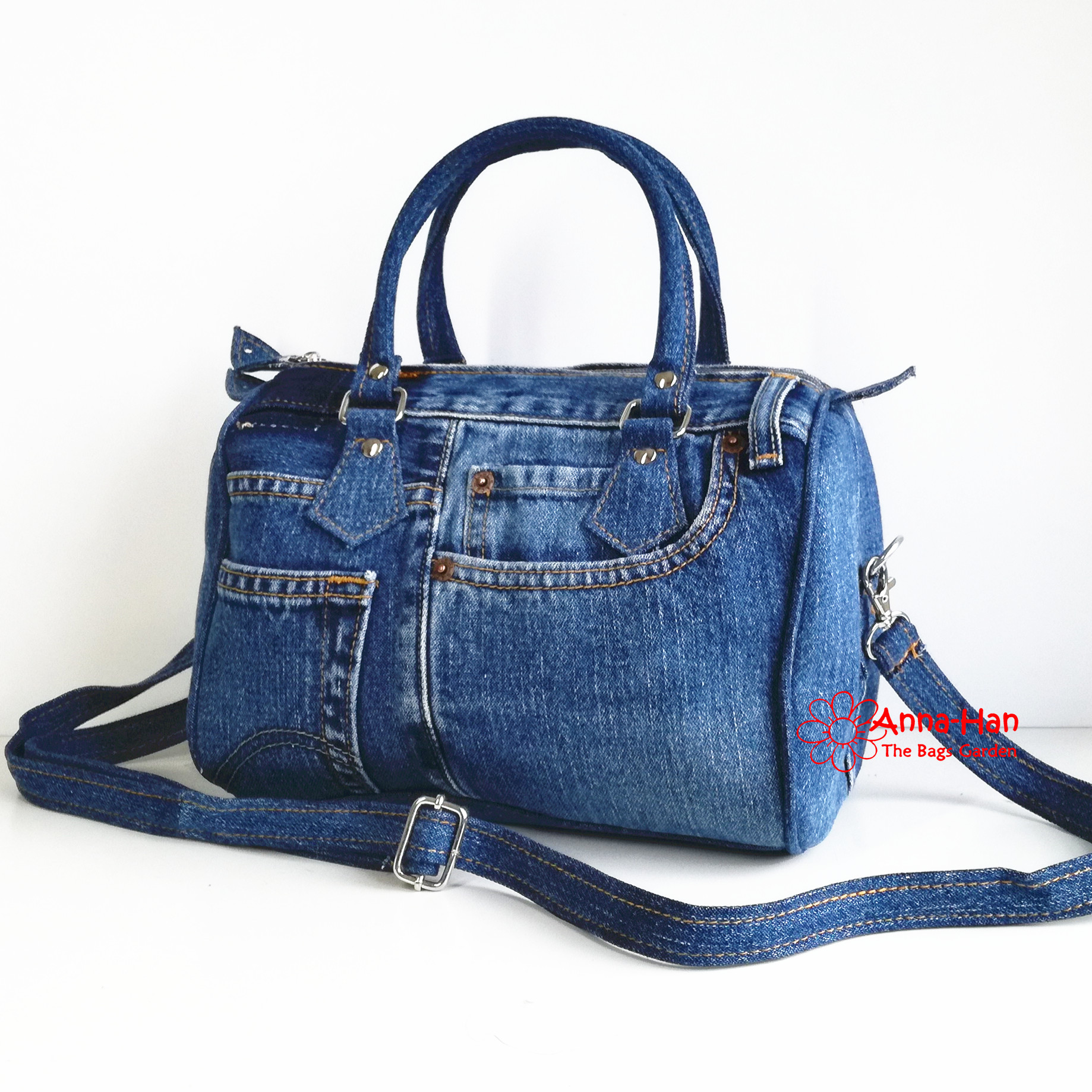 Jb05 Ellipse Jean Handmade Bag